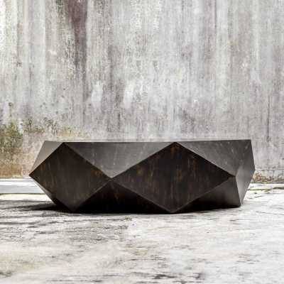 RUSTIC HEXAGON COFFEE TABLE - Shades of Light