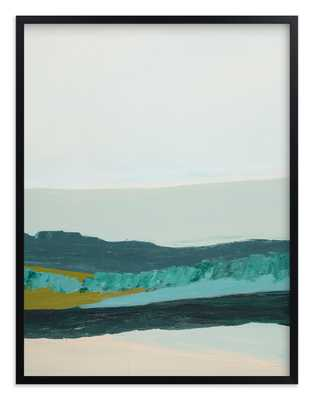 """Abstract Seascape Jade Green / 54""""x 40"""" / Black Frame - Minted"""