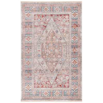 Mea-Mebara Oriental Gray/Blue Area Rug - Wayfair