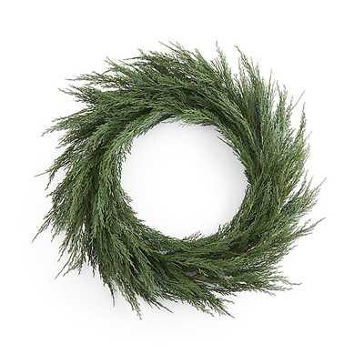 Cypress Wreath - Crate and Barrel