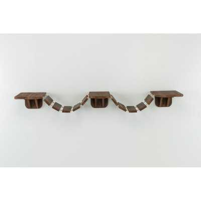 Wall Mounted Cat Bridge Brown - Wayfair