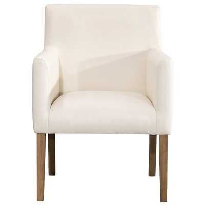Pecoraro Upholstered Dining Chair, Cream - Wayfair