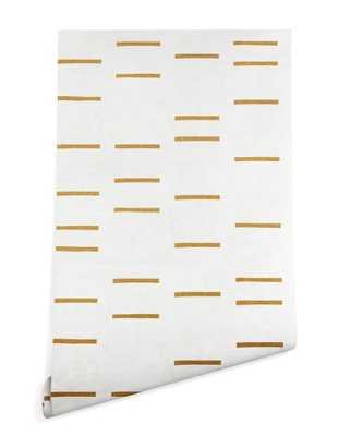 OCHRE LINE Wallpaper - Wander Print Co.