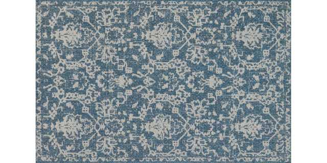 "WK-03 MH AZURE / GREY - 9'2""x12'1"" - Loma Threads"