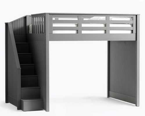 Catalina Stair Loft Bed, Full, Charcoal - Pottery Barn Kids