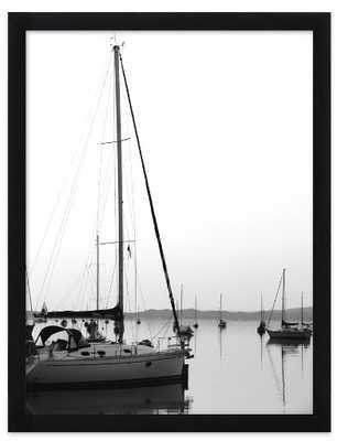"Harbor Morning - 16"" x 20"", black wood frame, no matte - Artfully Walls"