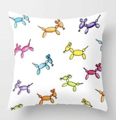 "Balloon Puppies Throw Pillow - Indoor - 24"" with insert - Society6"