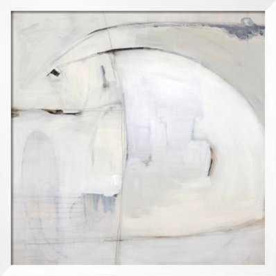 """Subtle Sketch I 40"""" x 40"""" Neuhaus White 1.5"""" Frame - art.com"""
