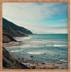 CALIFORNIA PACIFIC COAST HIGHWAY - 30x30 - Bamboo Frame - Wander Print Co.
