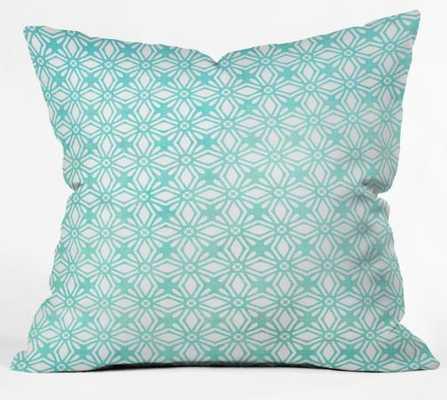 MOROCCAN DIAMOND ANISSA TEAL Throw Pillow - Wander Print Co.