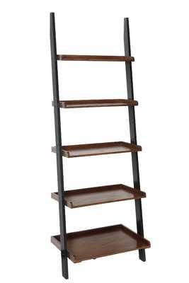 Gilliard Ladder Bookcase- Dark Walnut/Black - AllModern
