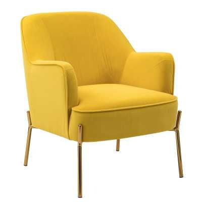 Erastus Armchair -Yellow - Wayfair