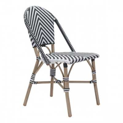 Paris Dining Chair Black&White, Set of 2 - Zuri Studios