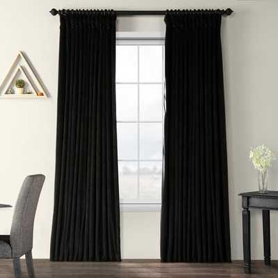 "Rhinehart Solid Max Blackout Thermal Tab Top Single Curtain Panel- black 100x 108"" - Wayfair"