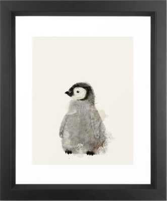 """little penguin Framed Art Print - Vector Black - 10"""" x 12"""" - Society6"""