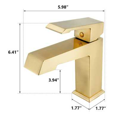 Satin Brass Single Hole Single-Handle Bathroom Faucet in Matte - Home Depot
