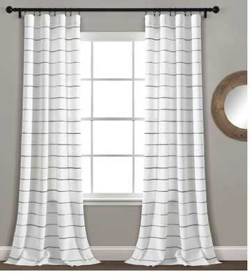 Gutirrez Ombre Yarn Dyed Stripe Semi-Sheer Rod Pocket Panel Pair - Wayfair