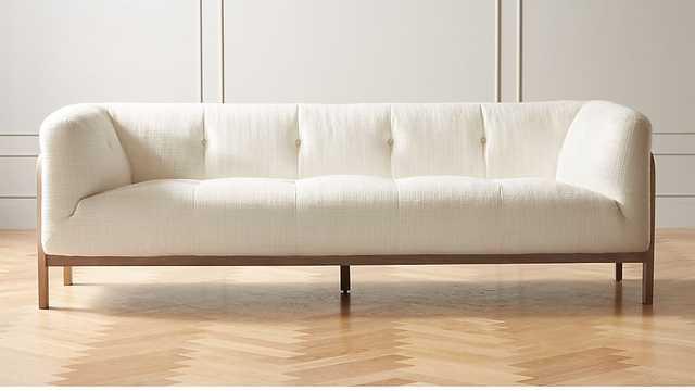 MOET WHITE TUFTED SOFA - CB2