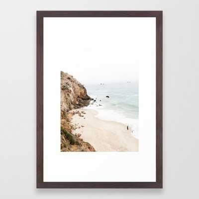 Malibu Framed Art Print - 15 x 21 - Conservation Walnut frame - Society6