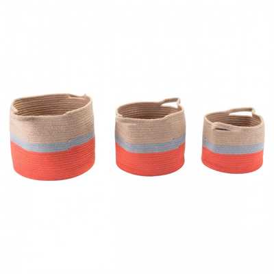 Ilesa Set Of 3 Baskets With Handles - Zuri Studios