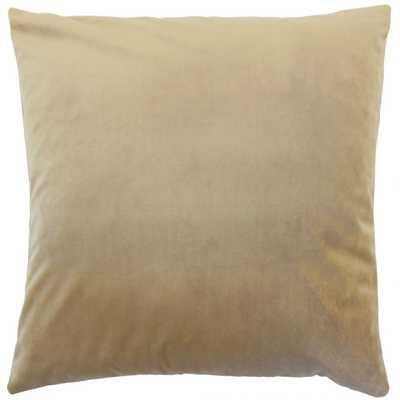 "Nizar Solid Pillow Latte - 26""x26"" - Cover Only - Linen & Seam"