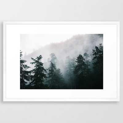 Forest Fog X Framed Art Print 26 x 38 - Society6