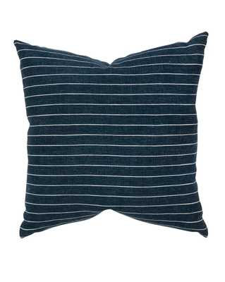 "ALDON PILLOW WITH DOWN INSERT - NAVY - 22"" x 22"" - McGee & Co."
