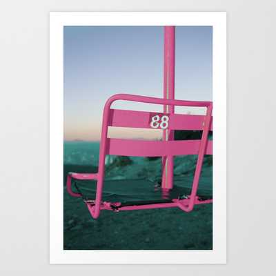 Pop Art 80's Chair Lift Art Print - Society6