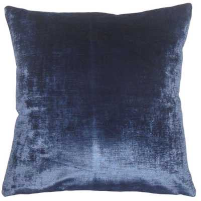 "Classic Velvet Pillow, Blue, 20"" x 20"" - Havenly Essentials"