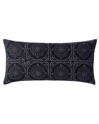 "Camille Mosaic Lumbar 14 x 30"" Pillow Cover - Indigo - Insert sold separately - Serena and Lily"