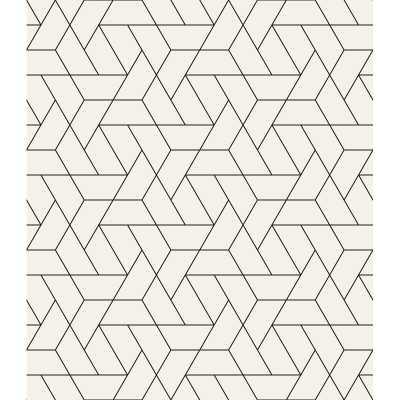 "Leiter Modern Geometrical Design 10' L x 24"" W Peel and Stick Wallpaper Roll - Wayfair"