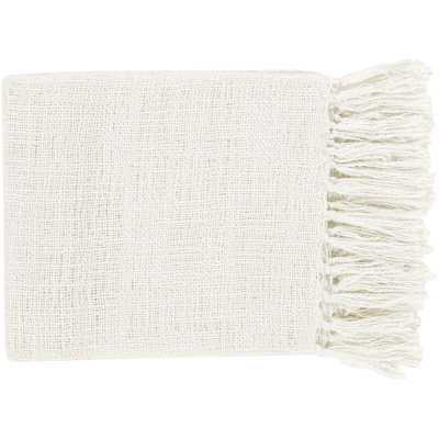 Bovina Throw Blanket - White - Wayfair