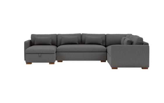 "CHARLY Corner Sectional with Left Storage Chaise- 147""x112"" - Interior Define"