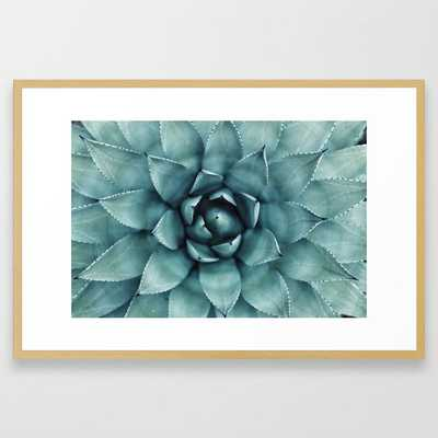 Aloe Green Agave Framed Art Print by Chilling Nation - Society6