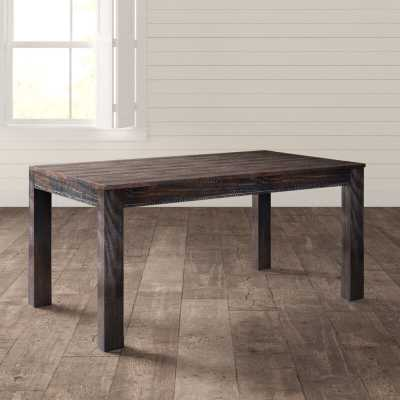 "Montauk 29.5""H Solid Pine Wood Dining Table - Wayfair"
