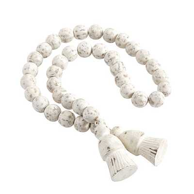 Ballard Designs Oversized Beads Whitewash - Ballard Designs