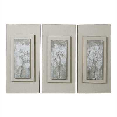 Triptych Trees Hand Painted Canvases - Hudsonhill Foundry