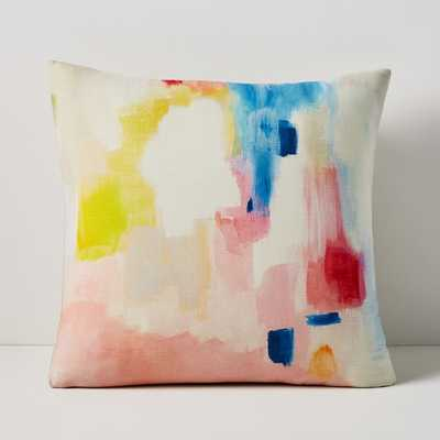 "Modern Watercolor Pillow Cover, 20""x20"", Painted Meadow, Multi - West Elm"