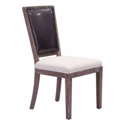 Market Dining Chair Brown & Beige, Set of 2 - Zuri Studios