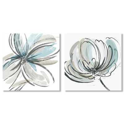 2 Piece Wrapped Canvas Painting Print Set - Wayfair