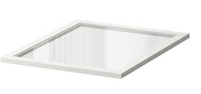 KOMPLEMENT Glass shelf, white - Ikea