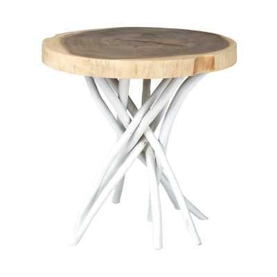 Stilwell Solid Wood Tree Stump End Table - Wayfair