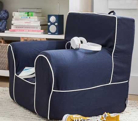 Navy with White Piping Anywhere Chair(R) - Pottery Barn Kids