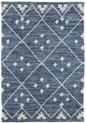 Kota Indigo Woven Wool Rug - 8x10 - Dash and Albert