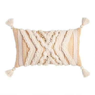 Tufted Moroccan Style Blanket Lumbar Pillow - World Market/Cost Plus