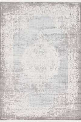 Twila Gray/Light Blue/Ivory Area Rug - 8' x 10' - Wayfair