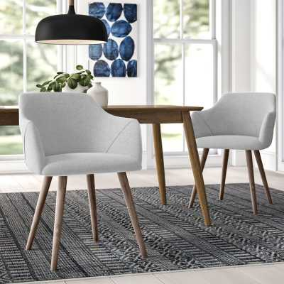 Brie Solid Wood Upholstered Dining Chair (Set of 2) - Wayfair