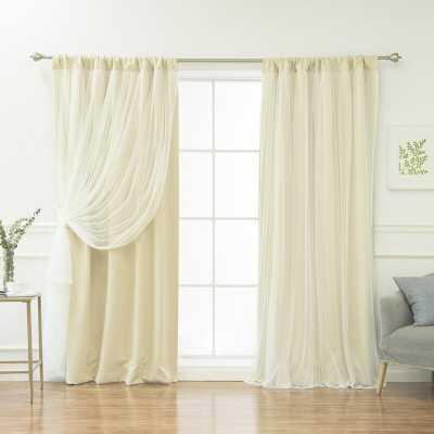 "Harborcreek Solid Blackout Thermal Rod Pocket Curtains, beige, set of 2, 96"" - Wayfair"