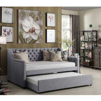 Wicker Park Daybed with Trundle-Gray - Wayfair