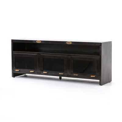 Rockwell 3 Door Media Cabinet in Natural Antique by BD Studio - Burke Decor
